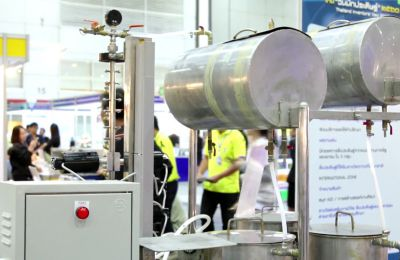 Continuous biodiesel production using ultrasound clamp on tubular reactor